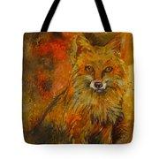 Fox Fire Tote Bag