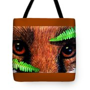 Fox In Hiding Tote Bag