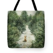 Fox In The Flurries Tote Bag