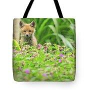 Fox In The Garden Tote Bag