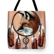 Fox Medicine Wheel Tote Bag by Brandy Woods