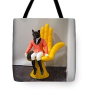 Fox On Hand Chair Tote Bag