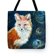 Fox Red  Painting  Tote Bag