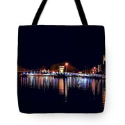 Fox River Green Bay At Night Tote Bag