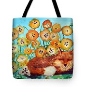 Fox Says Come And Sit With Me Tote Bag
