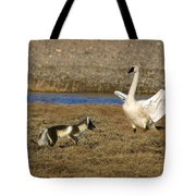 Fox Vs Swan Tote Bag