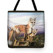 Foxes   Fundamental Foresight Foundation  Tote Bag