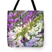 Foxglove Card Tote Bag