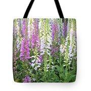 Foxglove Garden - Vertical Tote Bag
