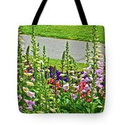 Foxglove In Front Of Conservatory In Golden Gate Park In San Francisco, California  Tote Bag
