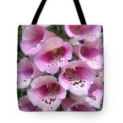Foxglove Plant - Pink Bell Flowers. Macro Tote Bag