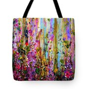 Foxgloves Panel One Tote Bag
