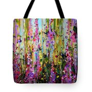 Foxgloves Panel Two Tote Bag