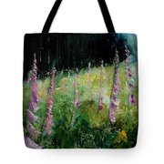 Foxgloves Tote Bag
