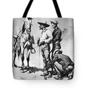 Fr 043 Third Cavalry Trooper Searching A Suspected Revolutionist Fredericremington Sqs Frederick Remington Tote Bag