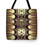Fractal 42 Cameos In Gold And Ivory Tote Bag