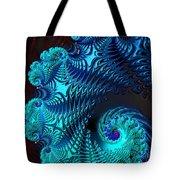 Fractal Art - Blue Wave Tote Bag