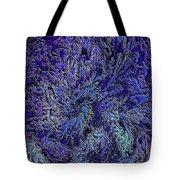 Fractal Blues Tote Bag