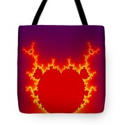Fractal Burning Heart Tote Bag