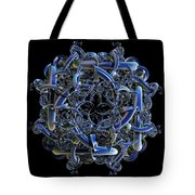 Fractal Complicated Intertwined Emblem Tote Bag