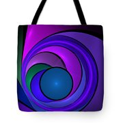 Fractal Design In Lilac, Pink And Blue Tote Bag