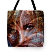 Fractal Eyes Tote Bag
