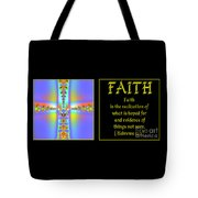 Fractal Faith Hebrews 11 Tote Bag by Rose Santuci-Sofranko