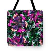 Fractal Floral Riot Tote Bag