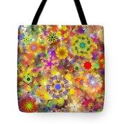 Fractal Floral Study 2 Tote Bag