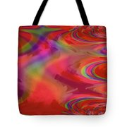 Fractal Red Tote Bag