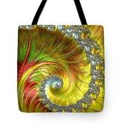 Fractal Spiral Three Tote Bag