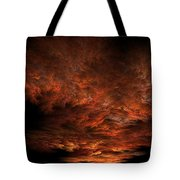 Fractal Sunset Tote Bag