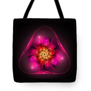 Fractal Triangle Pink Red Yellow Tote Bag