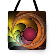 Fractal With Orange, Yellow And Red Tote Bag
