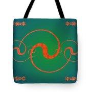 Fractal Yin And Yang Tote Bag