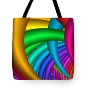 Fractalized Colors -9- Tote Bag by Issabild -