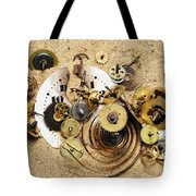 Fragmented Clockwork In The Sand Tote Bag