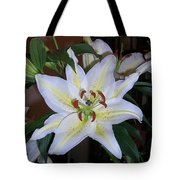 Fragrant White Lily Tote Bag