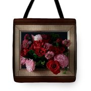 Framed Bouquet Of Flowers Tote Bag