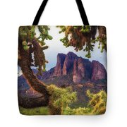 Framed By Cholla Tote Bag
