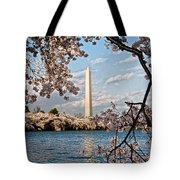 Framed With Blossoms Tote Bag