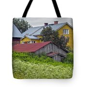 Framehouses In Finland Tote Bag