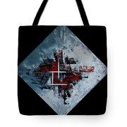 Frammenti In Rosso E Nero Tote Bag