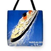 France Cruise Vintage Travel Poster Restored Tote Bag