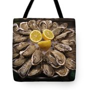 France, Paris Oysters On Display Tote Bag