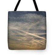 France, Paris, Tail Of Smoke In Sky Tote Bag