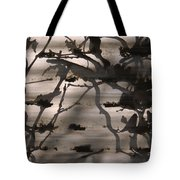 France, Paris, Tree Branches Reflected Tote Bag