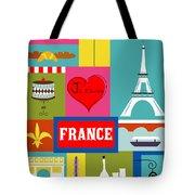 France Vertical Scene - Collage Tote Bag