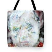 Francis Bacon - Watercolor Portrait.2 Tote Bag