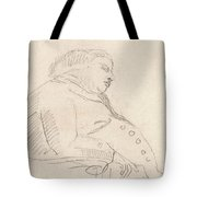 Francis Grose Asleep In A Chair Tote Bag